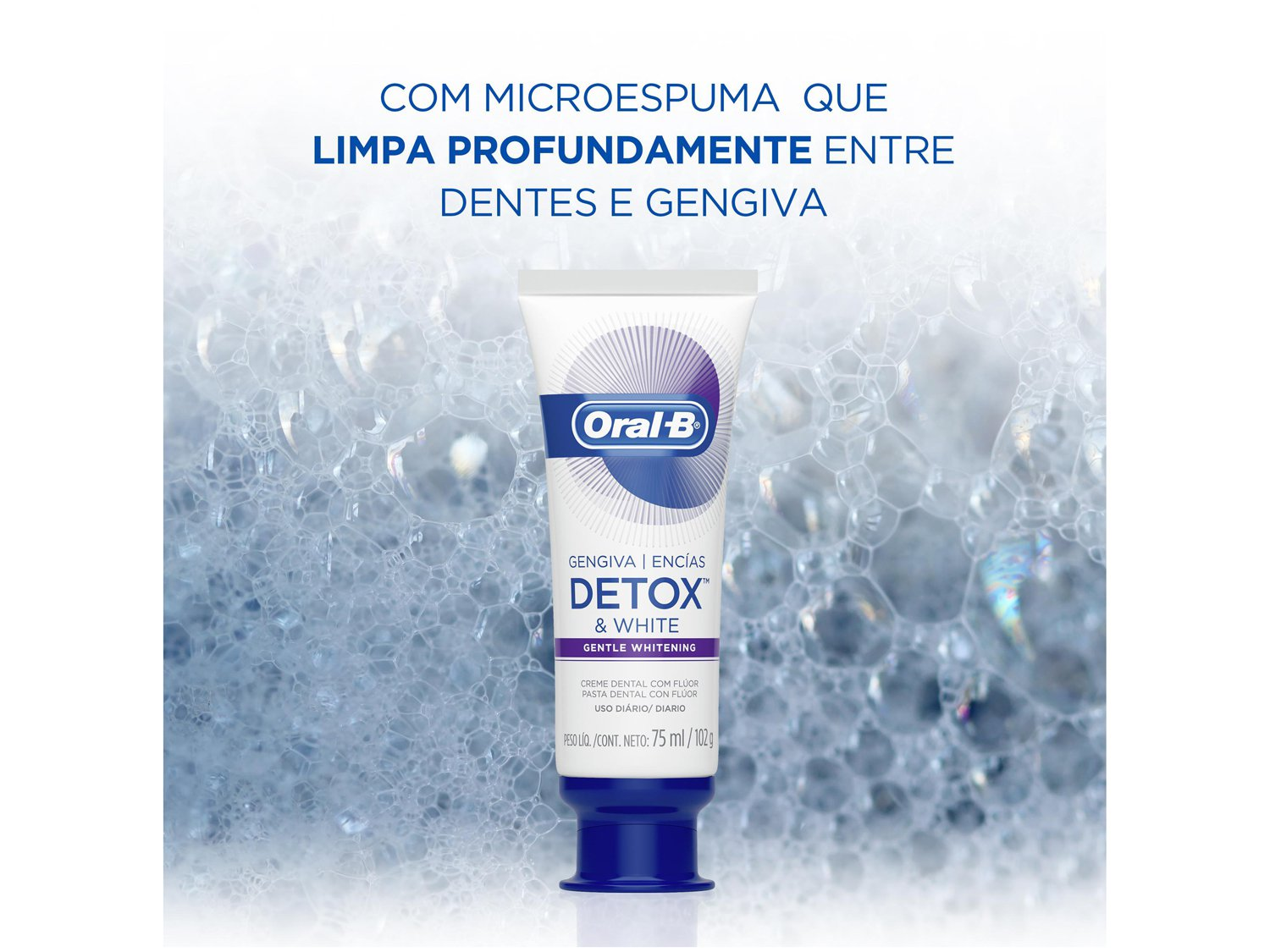 Creme Dental com Flúor Oral-B Detox - Gentle Whitening 102g - 2