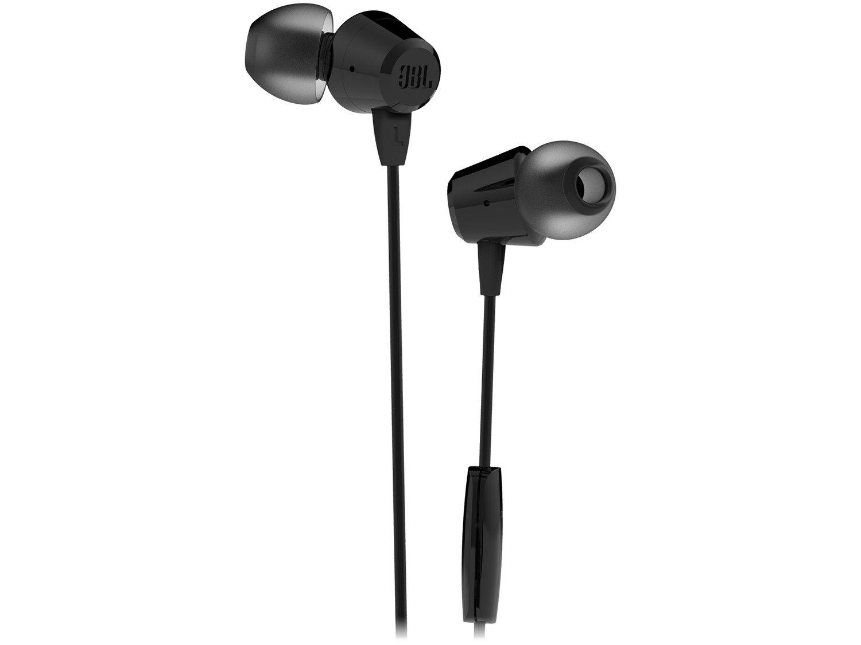 Fone de Ouvido JBL C50HI Intra-auricular - com Microfone Preto - 1
