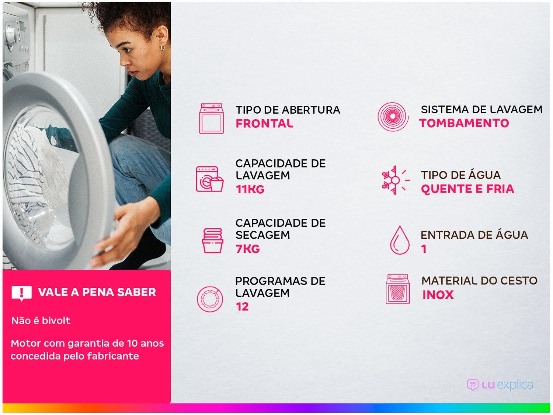 Lava e Seca Samsung 11Kg WD6000J Conectada - Wi-Fi EcoBubble 12 Programas de Lavagem - 110 V - 1