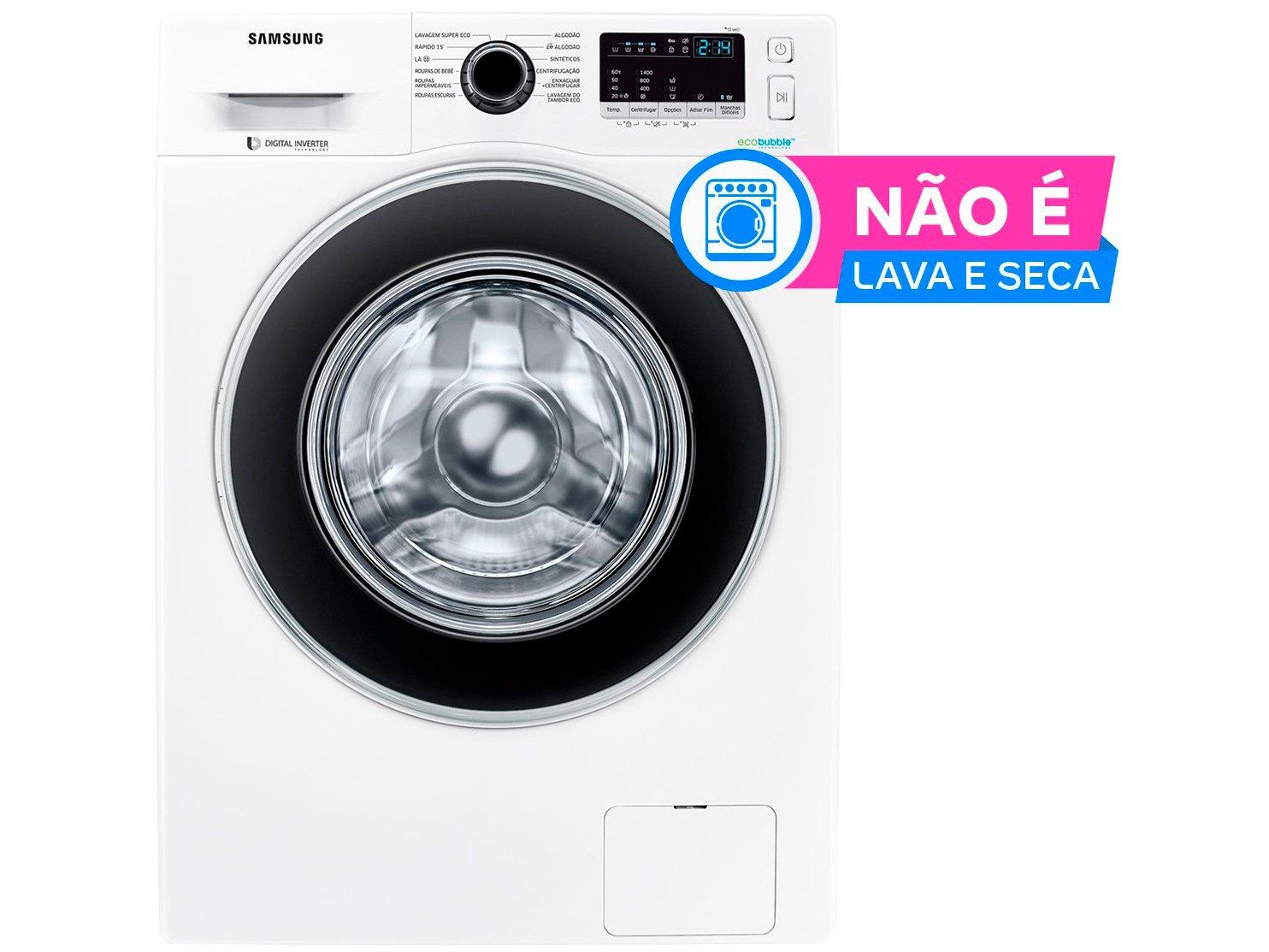 Lavadora de Roupas Samsung WW4000 WW11J4453JW/AZ - 11Kg Cesto Inox 12 Programas de Lavagem - 110 V - 1
