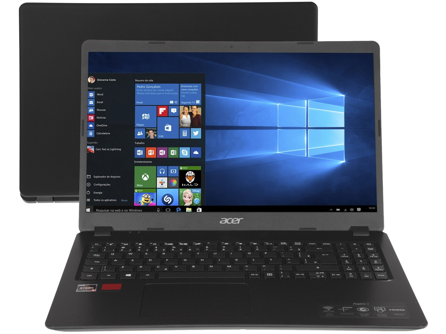 "Notebook Acer Aspire 3 A315-42G-R8LU AMD Ryzen 5 - 8GB 256GB SSD 15,6"" Placa Vídeo 2GB Windows 10 - Bivolt"