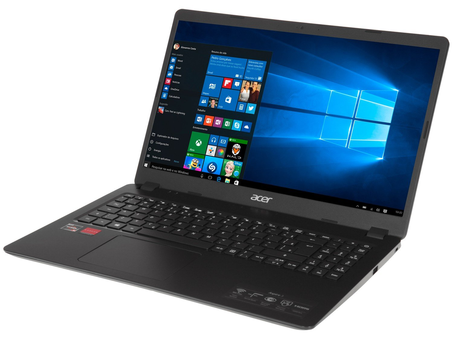 "Notebook Acer Aspire 3 A315-42G-R8LU AMD Ryzen 5 - 8GB 256GB SSD 15,6"" Placa Vídeo 2GB Windows 10 - Bivolt - 2"