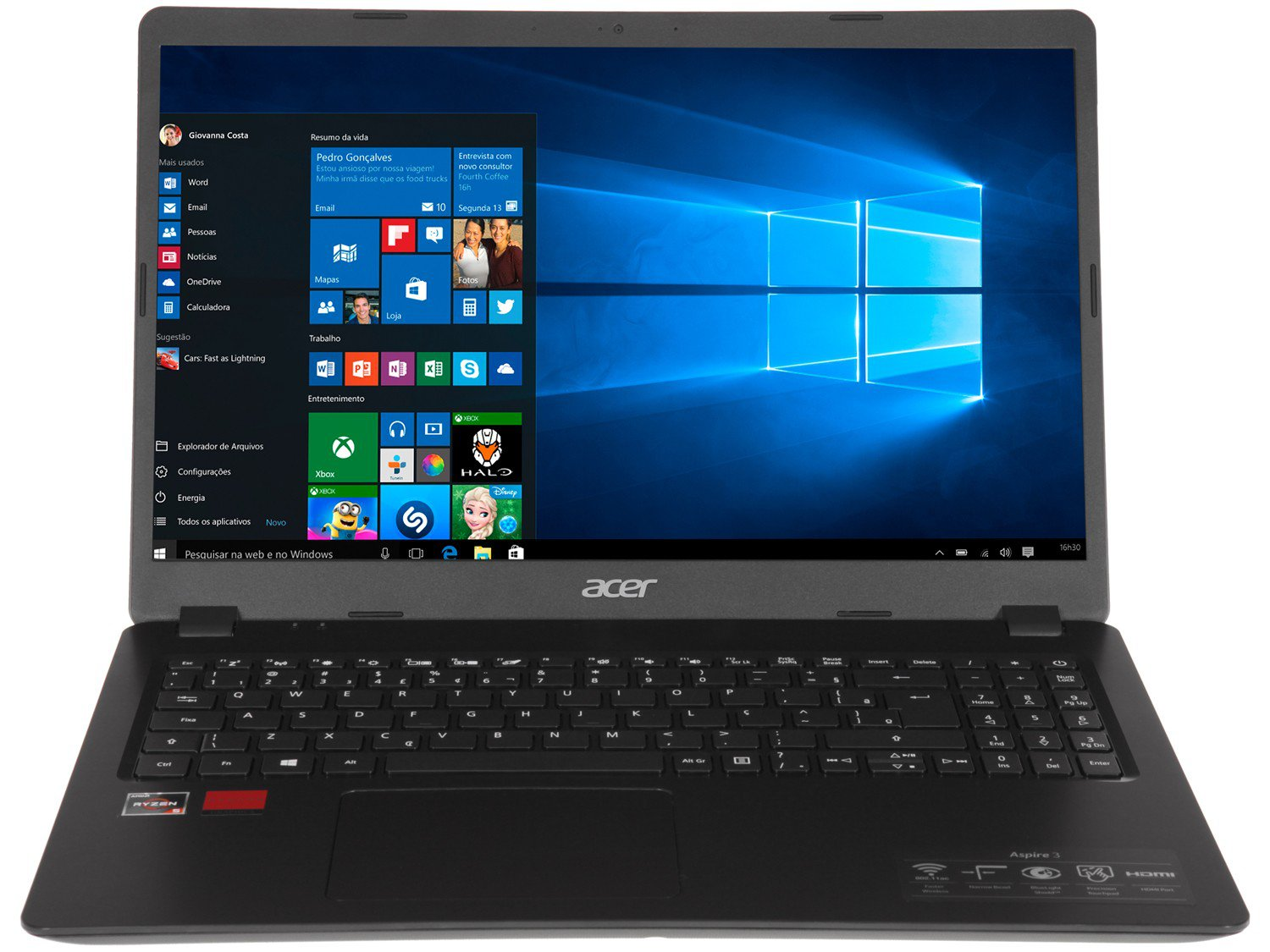 "Notebook Acer Aspire 3 A315-42G-R8LU AMD Ryzen 5 - 8GB 256GB SSD 15,6"" Placa Vídeo 2GB Windows 10 - Bivolt - 3"