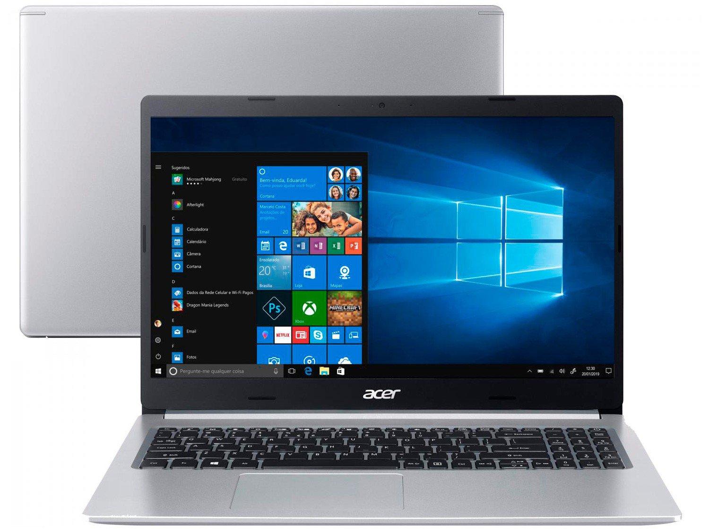 "Notebook Acer Aspire 5 A515-54G-53GP Intel Core i5 - 8GB 256GB SSD 15,6"" Placa NVIDIA 2GB Windows 10 - Bivolt"