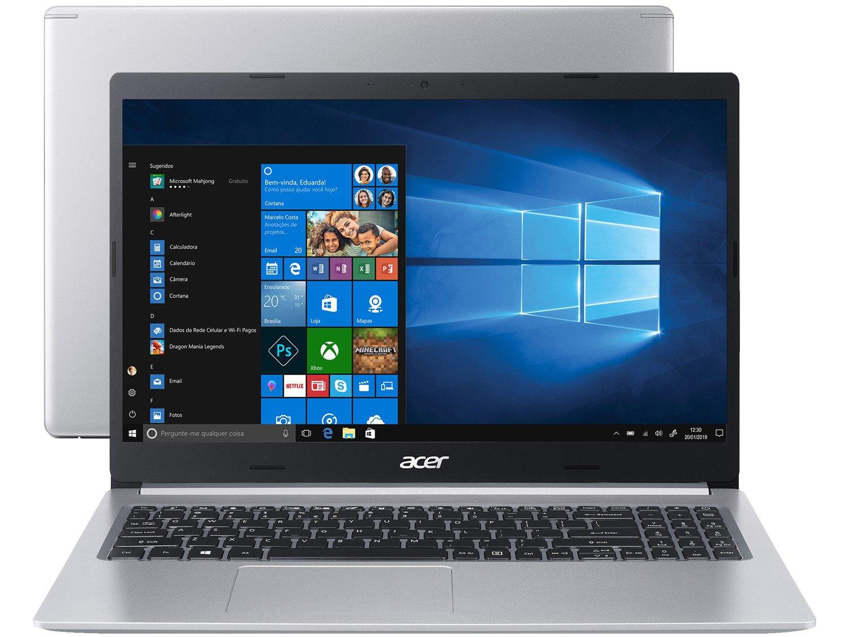 """Notebook Acer Aspire 5 A515-54-587L Intel Core i5 - Quad-Core 8GB 256GB SSD 15,6"""" Windows 10 - Bivolt"""