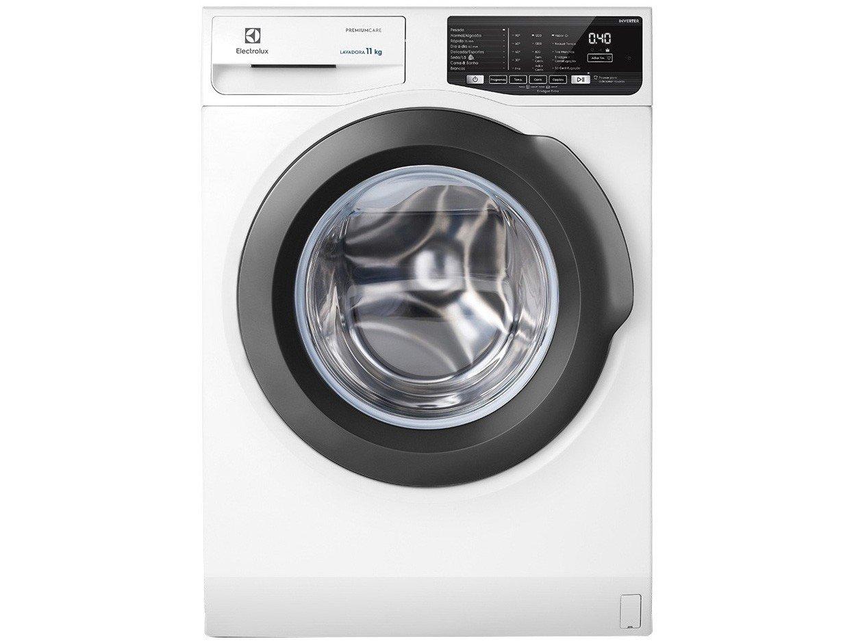 Lavadora de Roupas Electrolux Premium Care LFE11 - 11kg Cesto Inox 8 Programas de Lavagem - 220 V