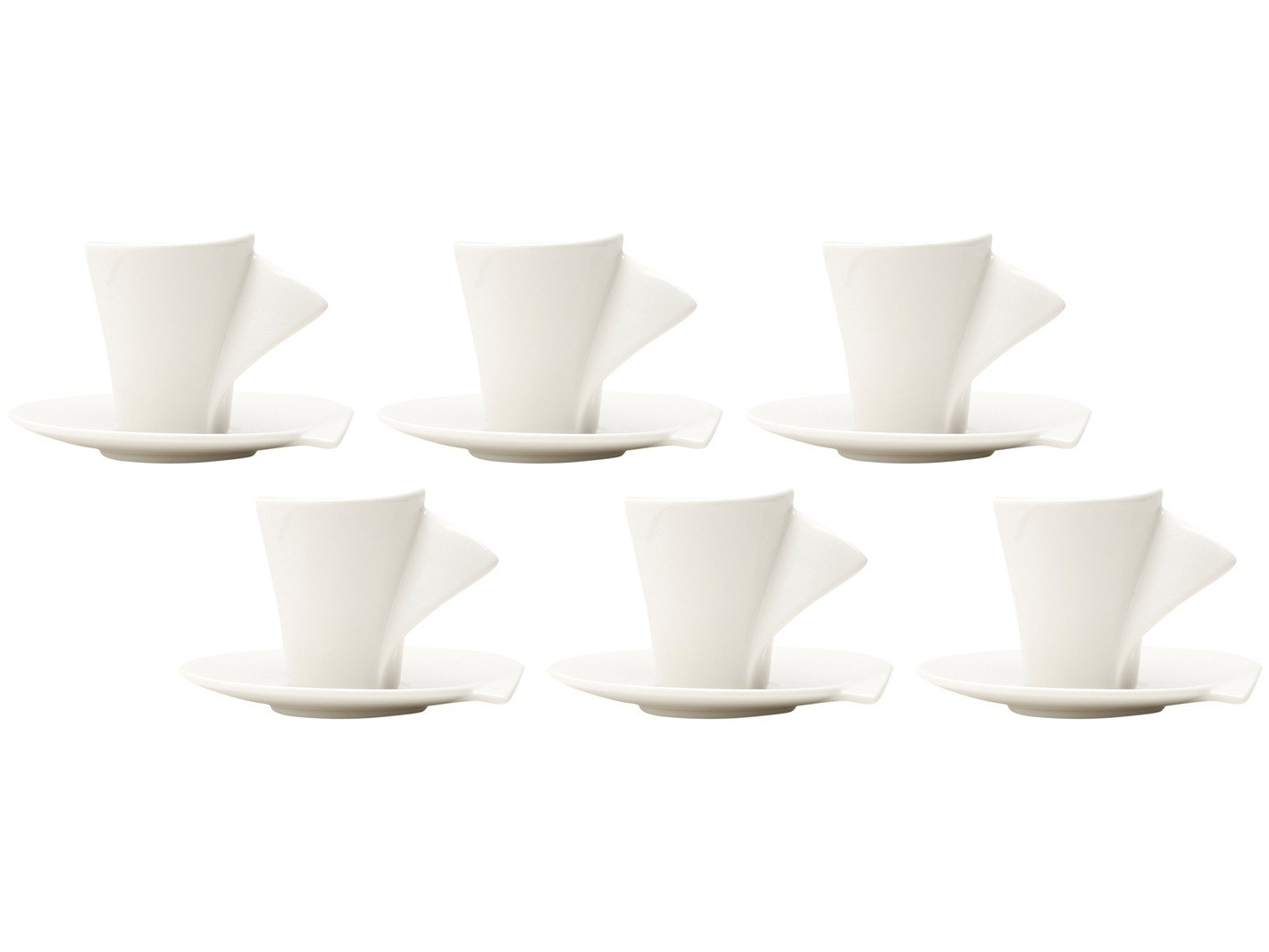 Jogo de Xícaras de Café Porcelana 65ml Wolff - Lyon 6 Peças