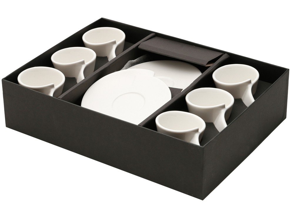 Jogo de Xícaras de Café Porcelana 65ml Wolff - Lyon 6 Peças - 1