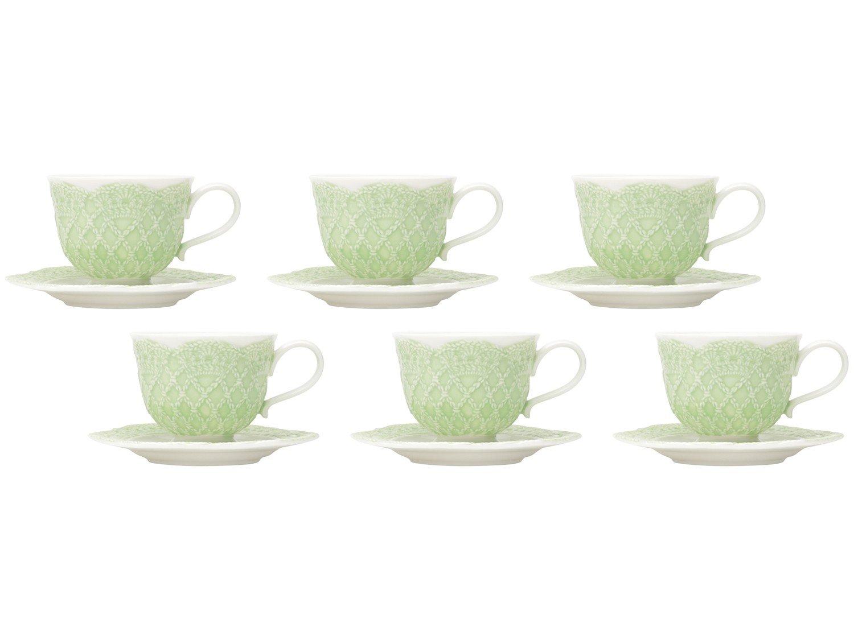 Jogo de Xícaras de Café Porcelana 90ml Wolff - Givemy 6 Peças