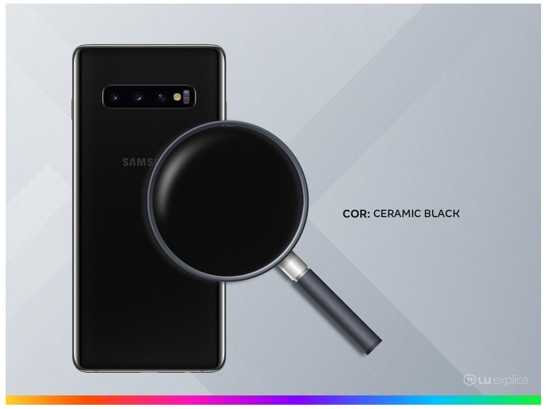"Smartphone Samsung Galaxy S10+ 128GB Ceramic Black - Octa-Core 8GB RAM 6,4"" Câm. Tripla + Selfie Dupla - Bivolt - 2"