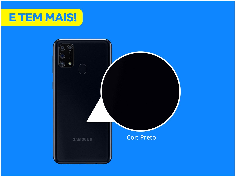 "Smartphone Samsung Galaxy M31 128GB Preto 4G - 6GB RAM Tela 6,4"" Câm. Quádrupla + Selfie 32MP - Bivolt - 2"