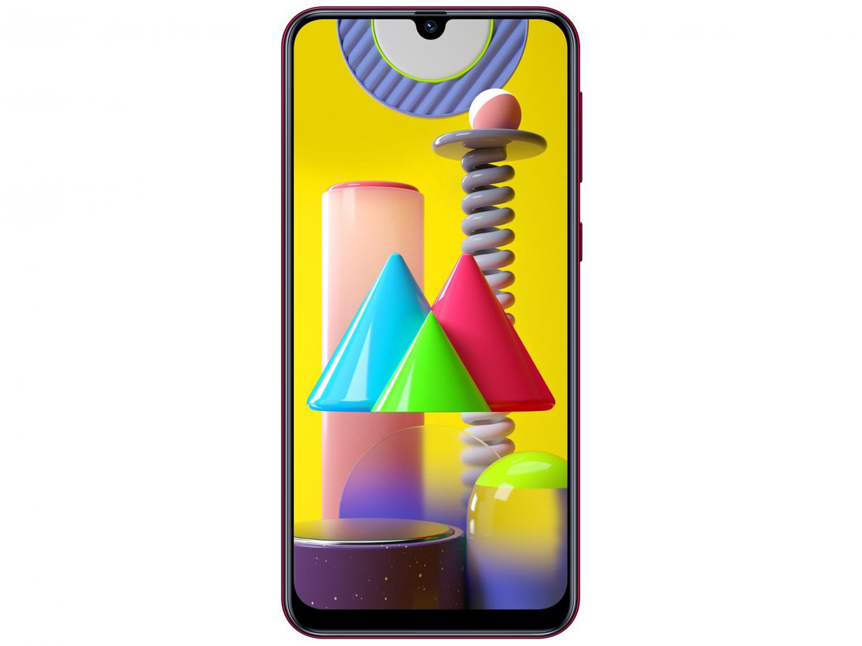 "Smartphone Samsung Galaxy M31 128GB Rosa 4G - 6GB RAM Tela 6,4"" Câm. Quádrupla + Selfie 32MP - Bivolt - 4"