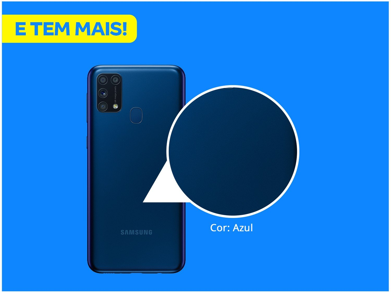 "Smartphone Samsung Galaxy M31 128GB Azul 4G - 6GB RAM Tela 6,4"" Câm. Quádrupla + Selfie 32MP - Bivolt - 2"