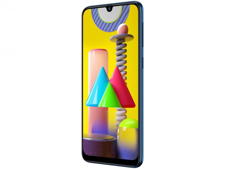 "Smartphone Samsung Galaxy M31 128GB Azul 4G - 6GB RAM Tela 6,4"" Câm. Quádrupla + Selfie 32MP - Bivolt - 4"