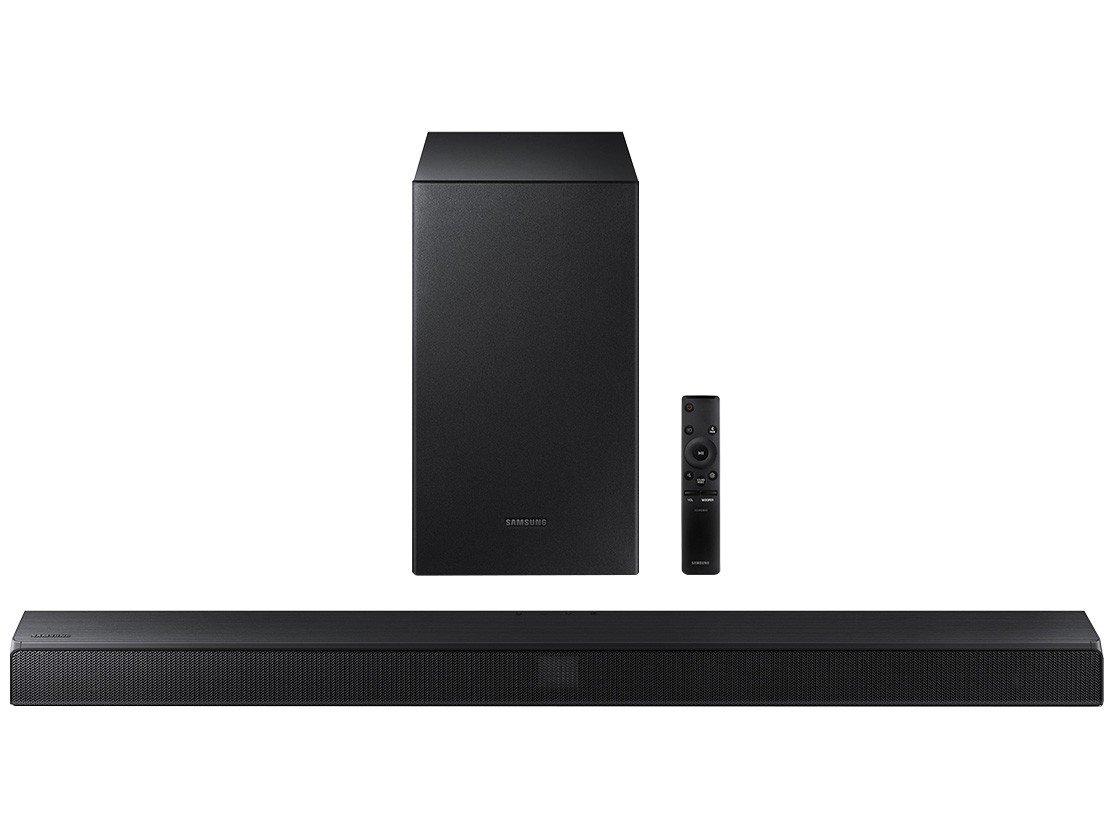Soundbar Samsung com Subwoofer Wireless Bluetooth - 320W 2.1 Canais HW-T550/ZD