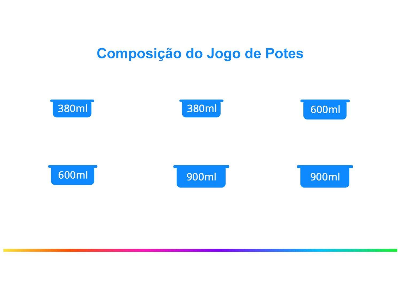 Jogo de Potes de Vidro Casambiente com Tampa - Quadrado JGTI039/2C 6 Peças - 1