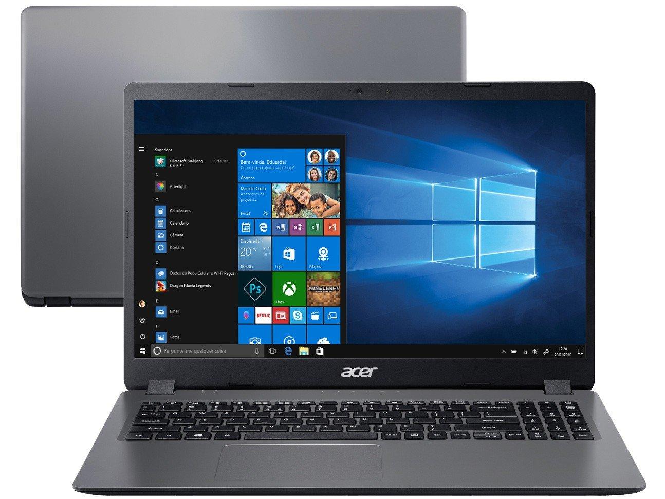 "Notebook Acer Aspire 3 A315-56-3090 Intel Core i3 - 8GB 256GB SSD 15,6"" Windows 10 - Bivolt"