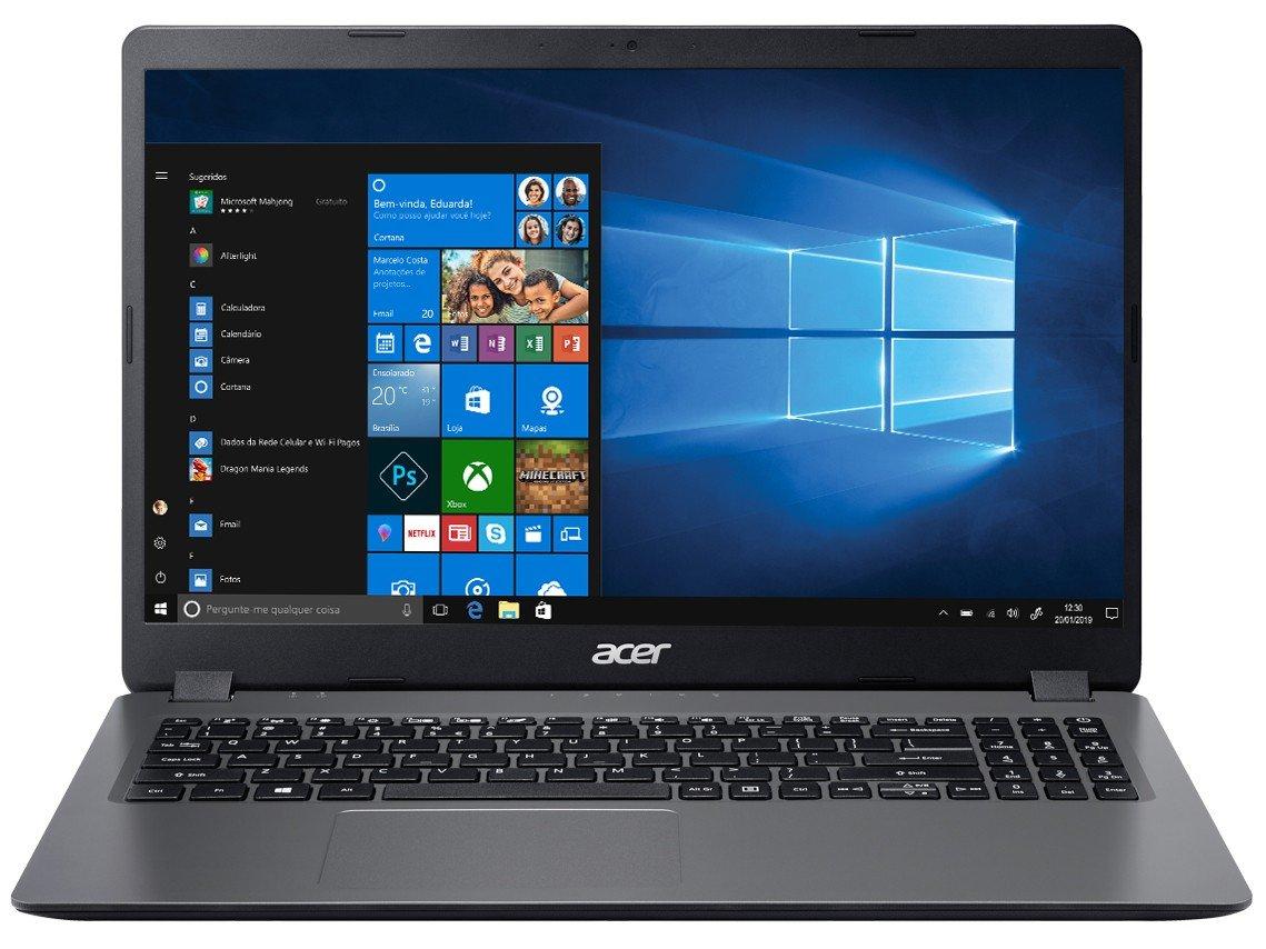 "Notebook Acer Aspire 3 A315-56-3090 Intel Core i3 - 8GB 256GB SSD 15,6"" Windows 10 - Bivolt - 2"