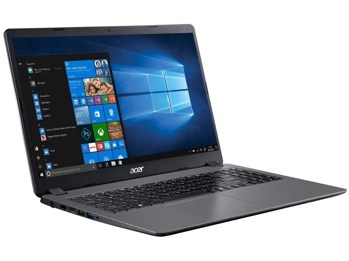 "Notebook Acer Aspire 3 A315-56-3090 Intel Core i3 - 8GB 256GB SSD 15,6"" Windows 10 - Bivolt - 3"