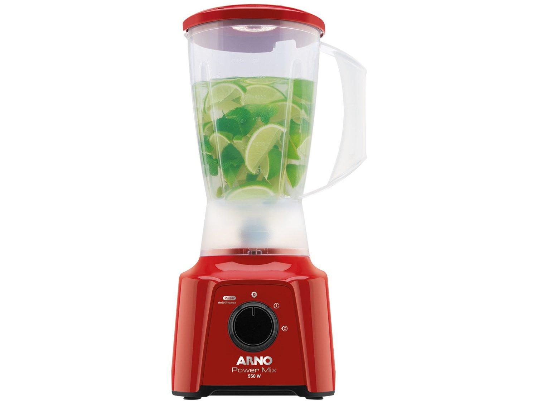 Liquidificador Arno Power Mix LQ11 com 2 Velocidades 550W – Vermelho - 110V - 7