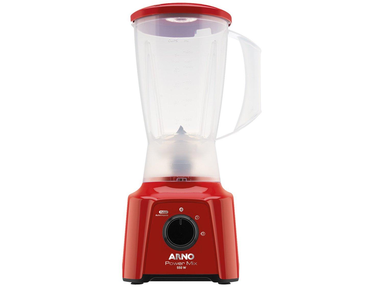 Liquidificador Arno Power Mix LQ11 com 2 Velocidades 550W – Vermelho - 110V - 8