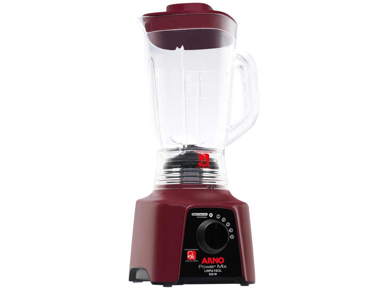 Liquidificador Arno Power Mix Limpa Fácil LQ32 com 5 Velocidades 550W – Vinho - 110V - 16