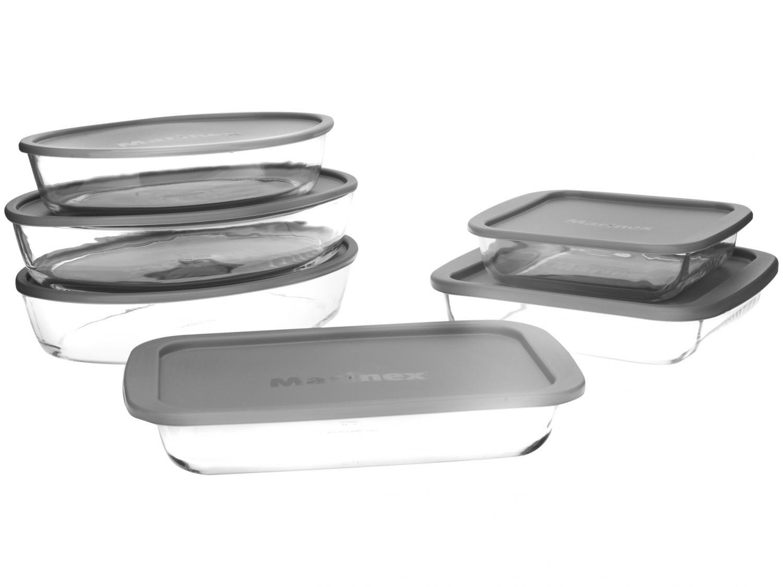 Conjunto de Assadeiras em Vidro com Tampa Plástica Marinex – 6 Peças - 3