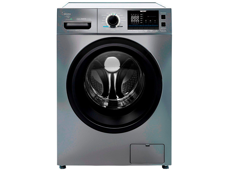 Lavadora de Roupas Midea Storm Wash LFA11X1 - Inverter 11kg Cesto Inox 16 Programas de Lavagem - 110 V