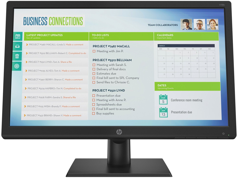 "Monitor para PC HP V19B 18,5"" LED TN Widescreen HD - VGA - Bivolt - 2"