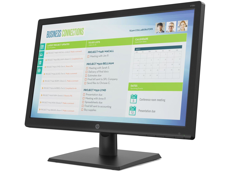 "Monitor para PC HP V19B 18,5"" LED TN Widescreen HD - VGA - Bivolt - 4"