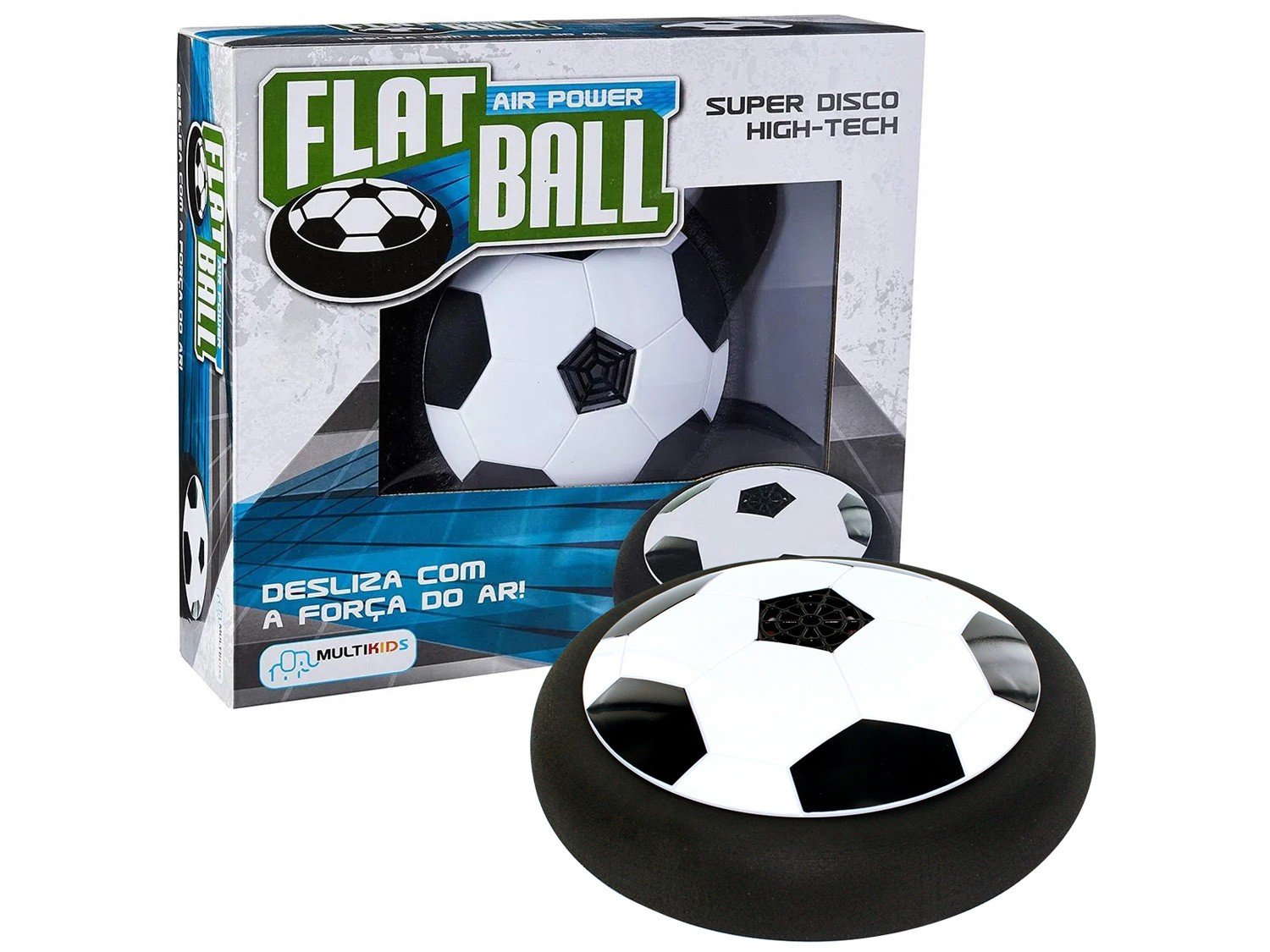 Flat Ball Multikids Air Power Preto e Branco - 3