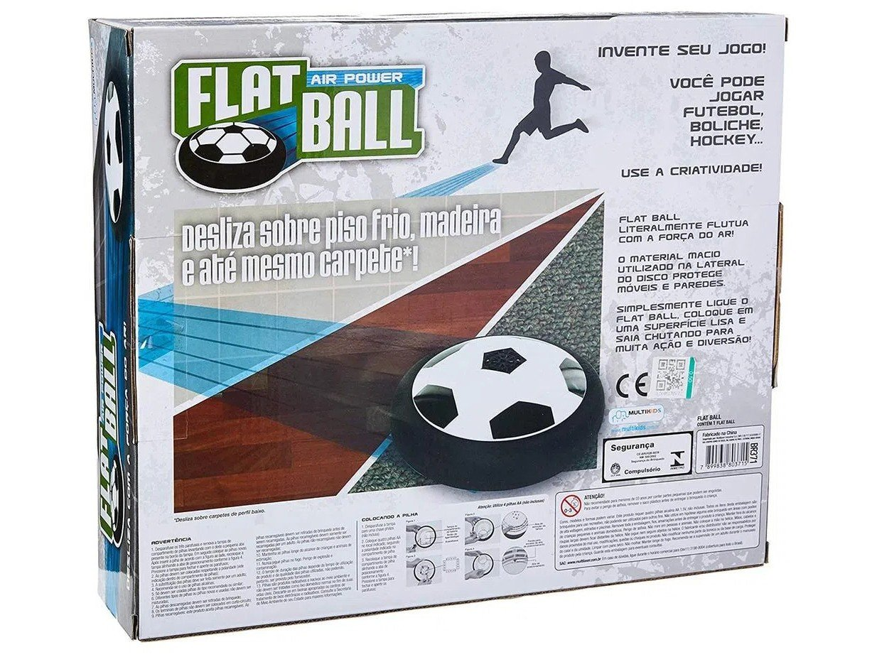 Flat Ball Multikids Air Power Preto e Branco - 16