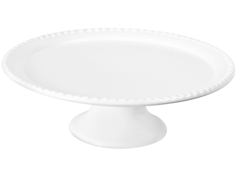 Prato para Bolo de Cerâmica Scalla Redonda Bolinha - 32,5cm