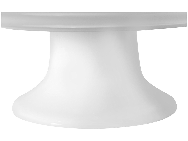 Prato para Bolo de Cerâmica Scalla Redonda Bolinha - 32,5cm - 3