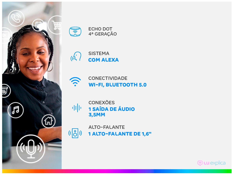 Echo 4ª Geração Smart Speaker com Alexa - Amazon - Bivolt - 1