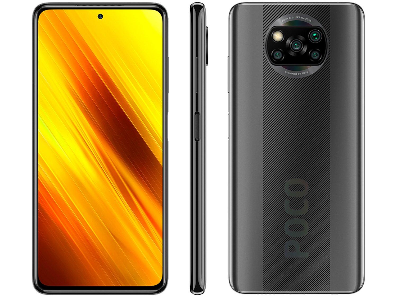 "Smartphone Xiaomi Poco X3 NFC 128GB Cinza - 6GB RAM Tela 6,67"" Câm. Quádrupla + Selfie 20MP - Bivolt"