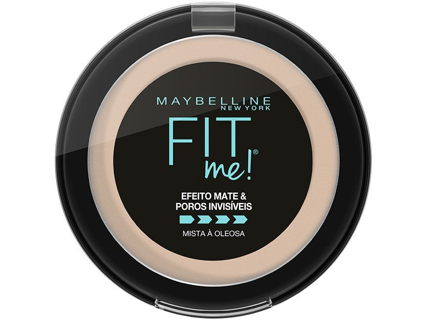 Pó Compacto Matte Maybelline NY Fit Me! B01 Super - Claro Bege 5g