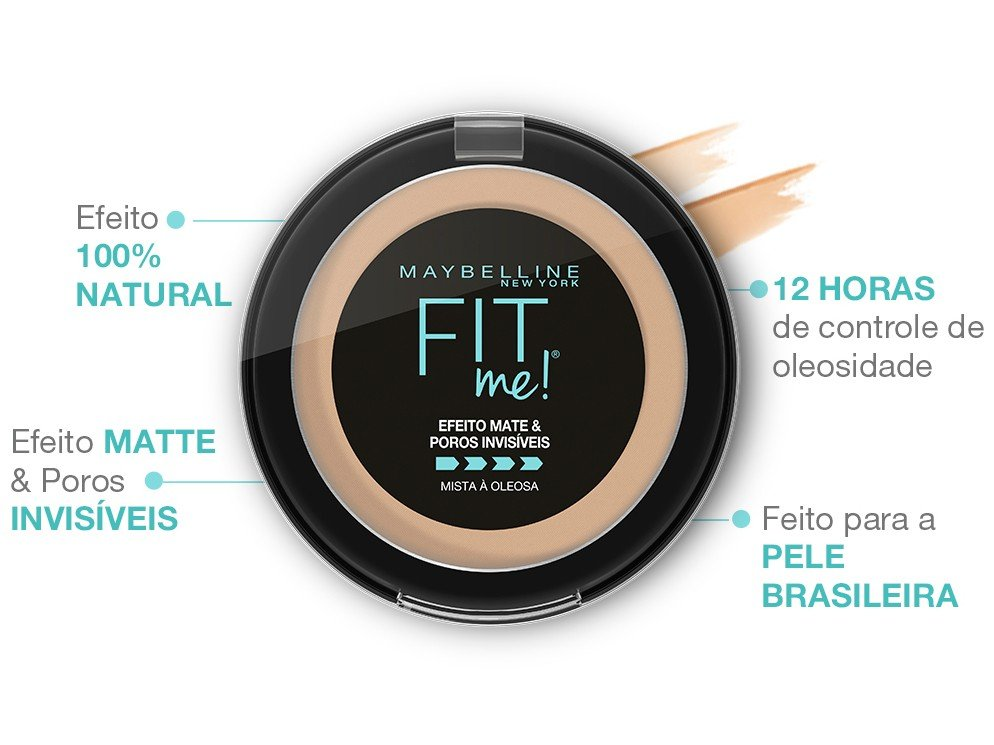 Pó Compacto Matte Maybelline NY Fit Me! B01 Super - Claro Bege 5g - 2