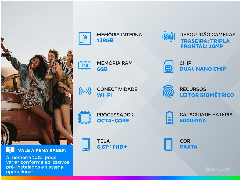 """Smartphone Xiaomi Mi 10T Prata 128GB, Tela de 6,67"""", 5G, 6GB de RAM, Câmera Traseira Tripla, Android 10 e Processador Octa-Core - 3"""