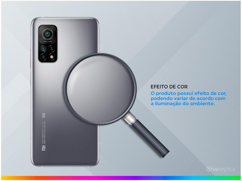"""Smartphone Xiaomi Mi 10T Prata 128GB, Tela de 6,67"""", 5G, 6GB de RAM, Câmera Traseira Tripla, Android 10 e Processador Octa-Core - 5"""