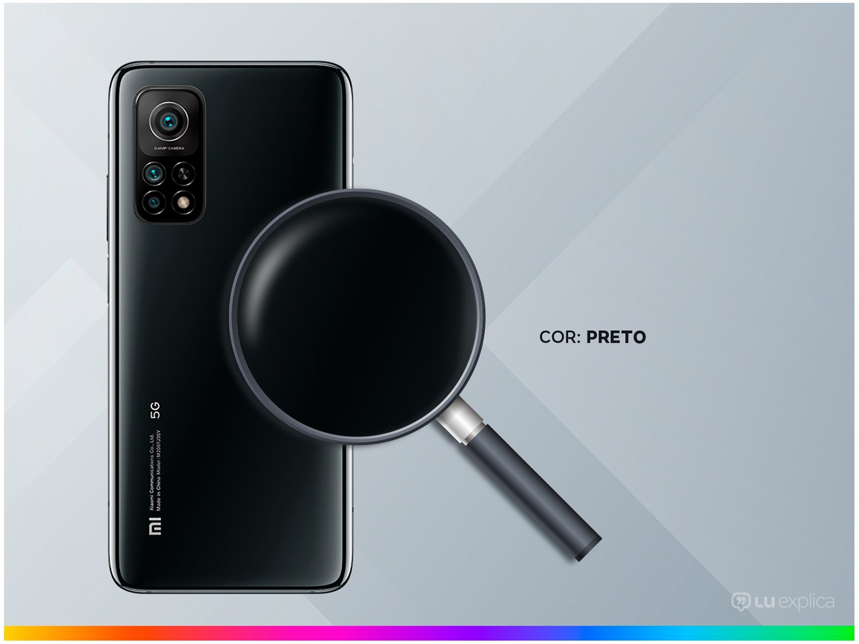 """Smartphone Xiaomi Mi 10T Preto 128GB, Tela de 6,67"""", 5G, 6GB de RAM, Câmera Traseira Tripla, Android 10 e Processador Octa-Core - 5"""