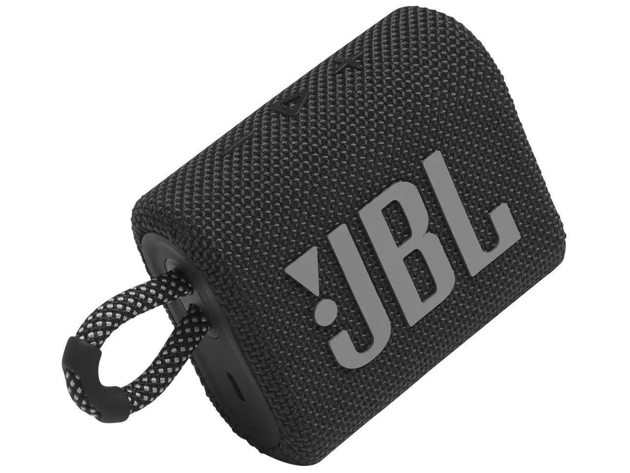 Caixa de Som Portátil JBL Go 3 com Bluetooth e À Prova de Poeira e Água – Preto - 1