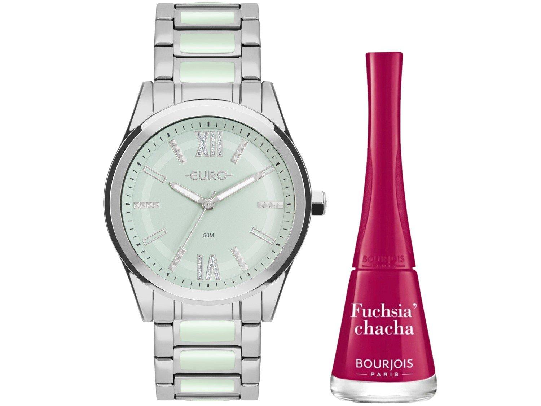 Relógio Feminino Analógico Euro Sporty Lux - EU2036YQN/K3 Prata com Acessório