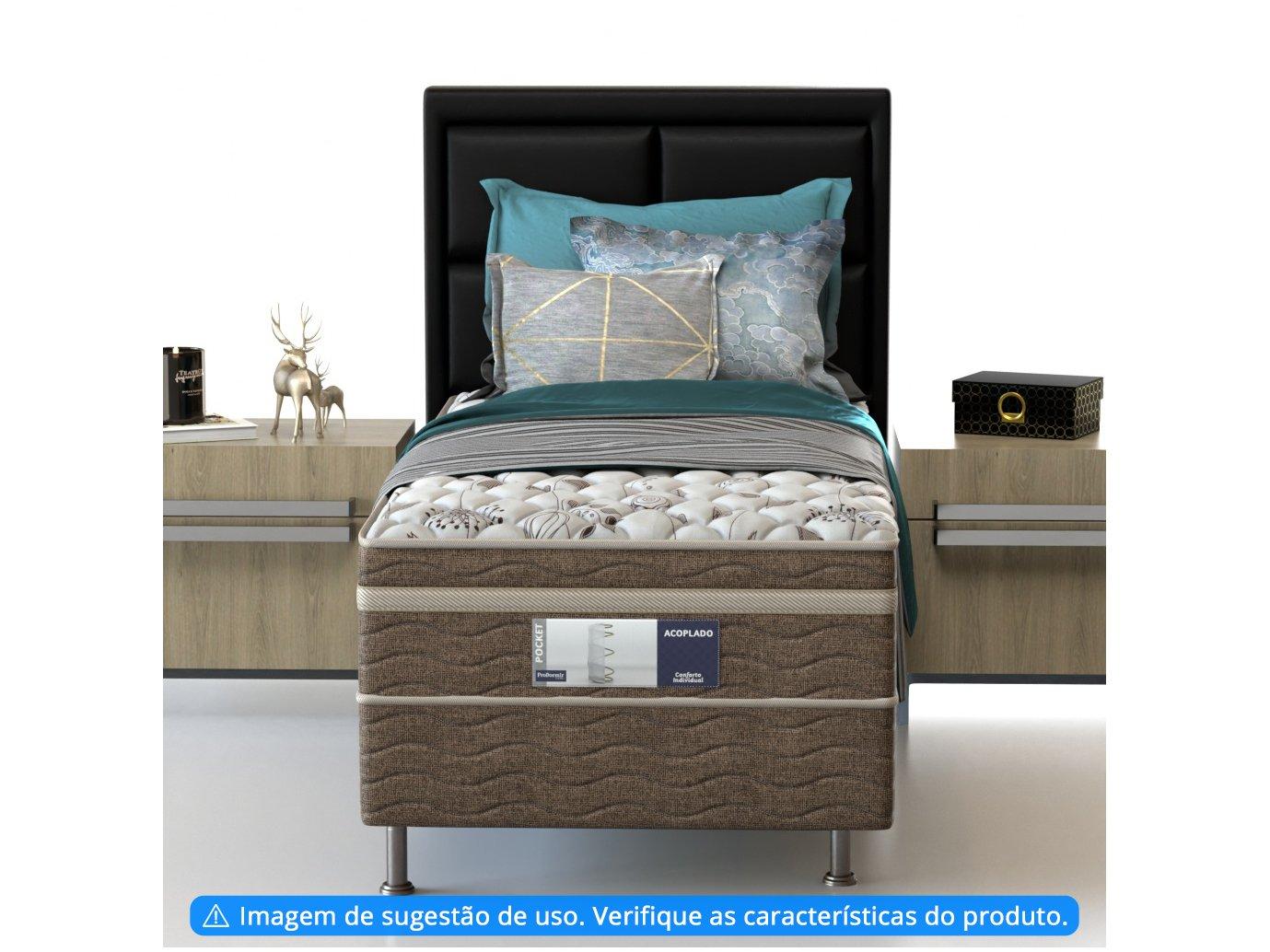 Cama Box Solteiro Conjugada de Mola - 50cm de Altura Comfort Pocket - 3