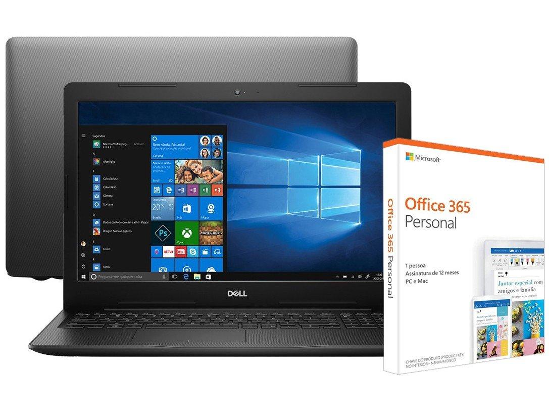 Foto 1 - Notebook Dell Inspiron 15 3000 i15-3583-A30P - Intel Core i7 + Pacote Microsoft Office 365