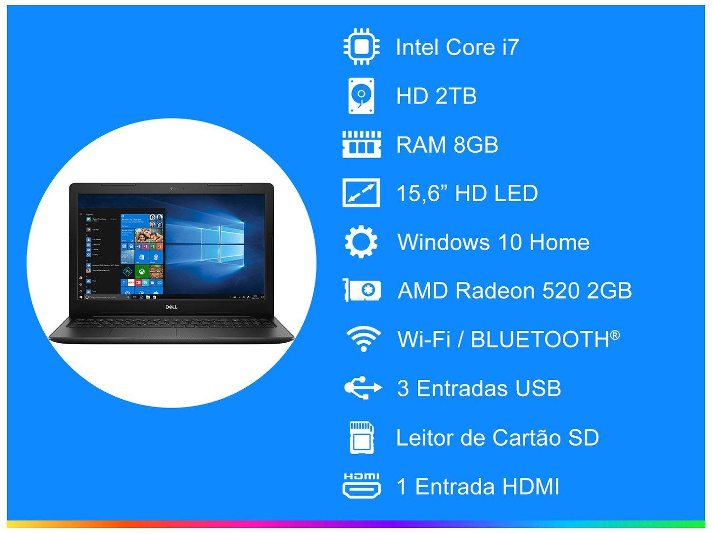 Foto 3 - Notebook Dell Inspiron 15 3000 i15-3583-A30P - Intel Core i7 + Pacote Microsoft Office 365