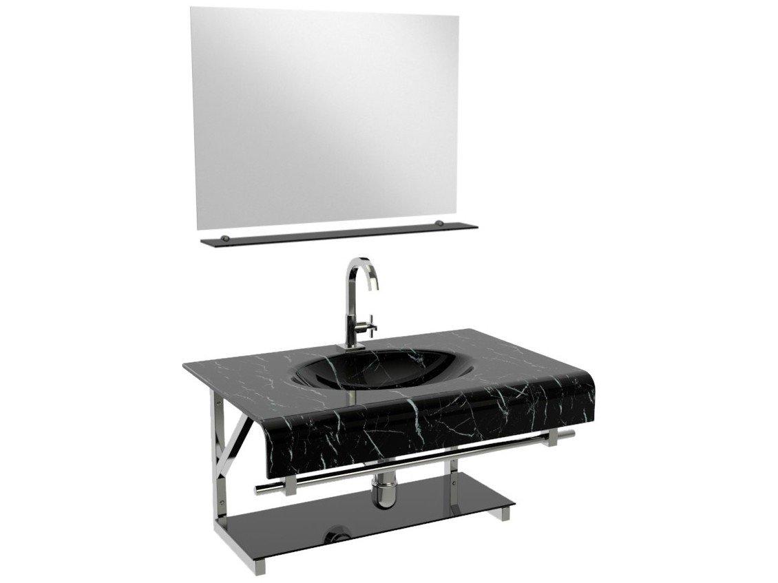 Gabinete Para Banheiro De Vidro Com Cuba E Espelho Vb Cristais Vb2010 80mpr Balcao Para Banheiro Gabinete Para Banheiro Magazine Luiza