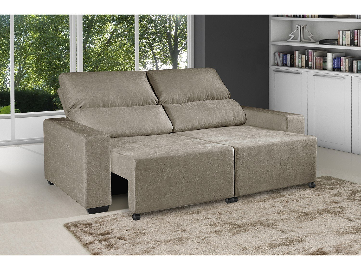 Sofa reclinavel for Sofa 03 lugares