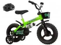 92e3a19bf Bicicleta Infantil Aro 12 Track   Bikes Kit Kat - Amarelo Neon com Rodinhas  com Cesta