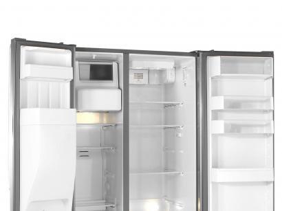 Geladeira/Refrigerador Brastemp Frost Free Inox - Side by Side 560L Dispenser...